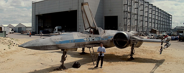 J.J. Abrams with X-Wing for Star Wars Force for Change
