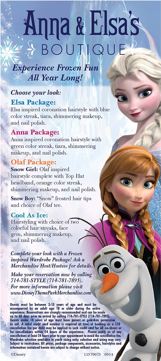 Anna & Elsa's Boutique Packages