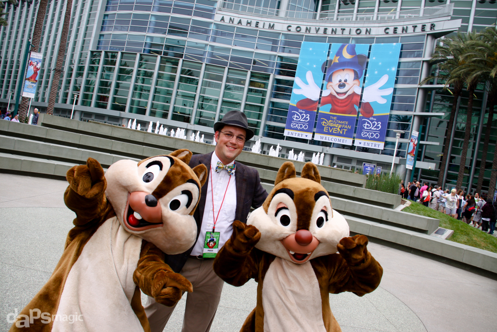 2013 D23 Expo - Mr. DAPs with Chip & Dale