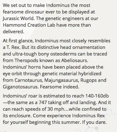About Indominous Rex