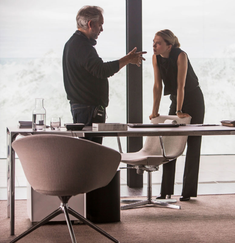 James Bond Spectre Director Sam Mendes and Lea Seydoux