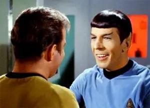 spock smiles