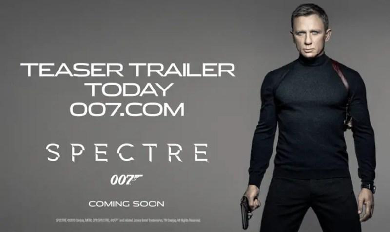 First James Bond Teaser Treailer Today!
