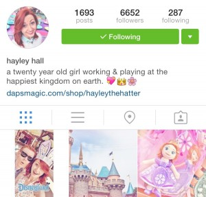 Hayley the Hatter on Instagram