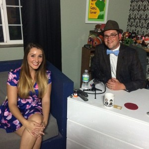 Kellie Knezovich of Pretty Little Bakers with Mr. DAPs on Geeks Corner