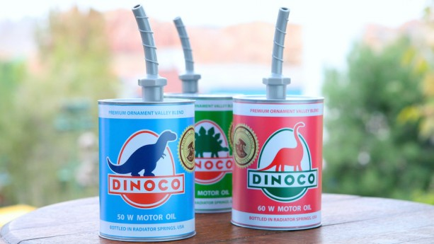 New Dinoco Oil Can Sippers Coming to Cars Land in Disney California Adventure