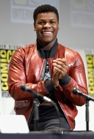 SAN DIEGO, CA - JULY 10: Actor John Boyega at the Hall H Panel for `Star Wars: The Force Awakens` during Comic-Con International 2015 at the San Diego Convention Center on July 10, 2015 in San Diego, California. (Photo by Michael Buckner/Getty Images for Disney) *** Local Caption *** John Boyega