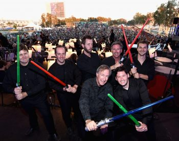 SAN DIEGO, CA - JULY 10: Musicians and more than 6000 fans enjoyed a surprise `Star Wars` Fan Concert performed by the San Diego Symphony, featuring the classic `Star Wars` music of composer John Williams, at the Embarcadero Marina Park South on July 10, 2015 in San Diego, California. (Photo by Michael Buckner/Getty Images for Disney)
