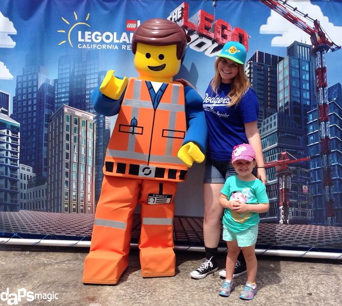 "Hanging out with the star of ""The Lego Movie,"" Emmet and my cousin."