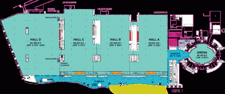 Map of first floor of Anaheim Convention Center