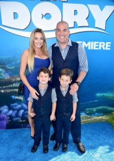 HOLLYWOOD, CA - JUNE 08: Mixed martial artist Tito Ortiz (R) and guests attend The World Premiere of Disney-Pixar's FINDING DORY on Wednesday, June 8, 2016 in Hollywood, California. (Photo by Alberto E. Rodriguez/Getty Images for Disney) *** Local Caption *** Tito Ortiz