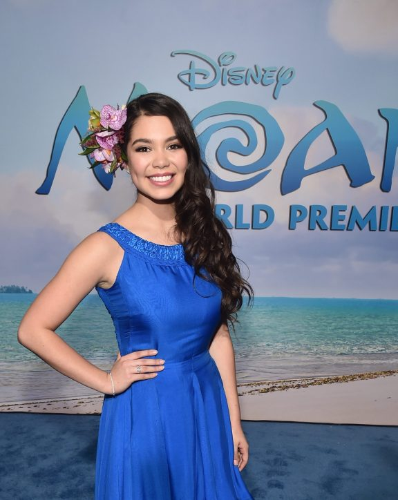 """HOLLYWOOD, CA - NOVEMBER 14: Actress Auli'i Cravalho attends The World Premiere of Disney's """"MOANA"""" at the El Capitan Theatre on Monday, November 14, 2016 in Hollywood, CA. (Photo by Alberto E. Rodriguez/Getty Images for Disney) *** Local Caption *** Auli'i Cravalho"""