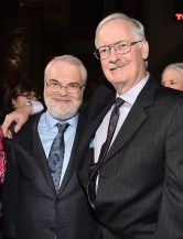 """HOLLYWOOD, CA - NOVEMBER 14: Directors Ron Clements (L) and John Musker attend The World Premiere of Disney's """"MOANA"""" at the El Capitan Theatre on Monday, November 14, 2016 in Hollywood, CA. (Photo by Alberto E. Rodriguez/Getty Images for Disney) *** Local Caption *** John Musker; Ron Clements"""
