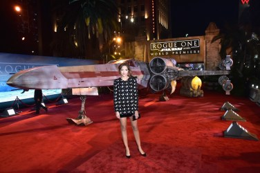 "HOLLYWOOD, CA - DECEMBER 10: Actress Georgie Flores attends The World Premiere of Lucasfilm's highly anticipated, first-ever, standalone Star Wars adventure, ""Rogue One: A Star Wars Story"" at the Pantages Theatre on December 10, 2016 in Hollywood, California. (Photo by Marc Flores/Getty Images for Disney) *** Local Caption *** Georgie Flores"