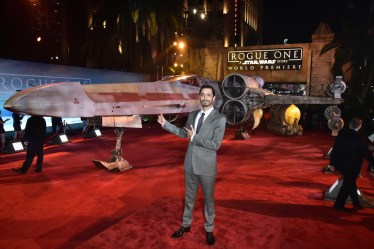 "HOLLYWOOD, CA - DECEMBER 10: Actor Riz Ahmed attends The World Premiere of Lucasfilm's highly anticipated, first-ever, standalone Star Wars adventure, ""Rogue One: A Star Wars Story"" at the Pantages Theatre on December 10, 2016 in Hollywood, California. (Photo by Marc Flores/Getty Images for Disney) *** Local Caption *** Riz Ahmed"