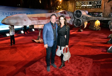 "HOLLYWOOD, CA - DECEMBER 10: Executive producer of Marvel Louis D'Esposito (L) and guest attend The World Premiere of Lucasfilm's highly anticipated, first-ever, standalone Star Wars adventure, ""Rogue One: A Star Wars Story"" at the Pantages Theatre on December 10, 2016 in Hollywood, California. (Photo by Marc Flores/Getty Images for Disney) *** Local Caption *** Louis D'Esposito"