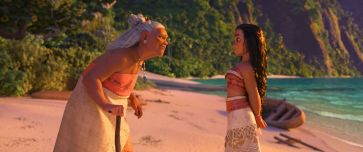 MOANA - (Pictured) Grandma Tala and Moana. ©2016 Disney. All Rights Reserved.