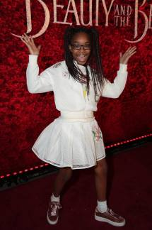 """Marsai Martin arrives for the world premiere of Disney's live-action """"Beauty and the Beast"""" at the El Capitan Theatre in Hollywood as the cast and filmmakers continue their worldwide publicity tour. (Photo: Alex J. Berliner/ABImages)"""