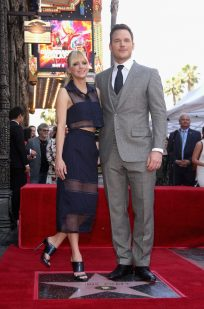 HOLLYWOOD, CA - APRIL 21: Actors Anna Faris (L) and Chris Pratt at the Chris Pratt Walk Of Fame Star Ceremony on April 21, 2017 in Hollywood, California. (Photo by Jesse Grant/Getty Images for Disney) *** Local Caption *** Anna Faris; Chris Pratt