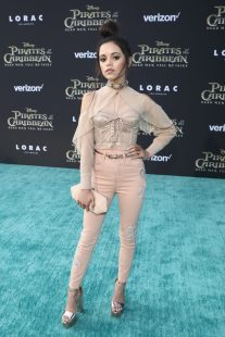 "HOLLYWOOD, CA - MAY 18: Actor Jenna Ortega at the Premiere of Disney's and Jerry Bruckheimer Films' ""Pirates of the Caribbean: Dead Men Tell No Tales,"" at the Dolby Theatre in Hollywood, CA with Johnny Depp as the one-and-only Captain Jack in a rollicking new tale of the high seas infused with the elements of fantasy, humor and action that have resulted in an international phenomenon for the past 13 years. May 18, 2017 in Hollywood, California. (Photo by Rich Polk/Getty Images for Disney) *** Local Caption *** Jenna Ortega"