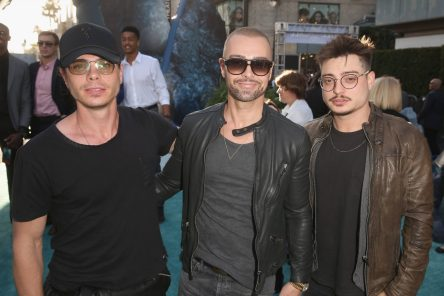 """HOLLYWOOD, CA - MAY 18: (L-R) Actors Matthew Lawrence, Joey Lawrence and Andrew Lawrence at the Premiere of Disney's and Jerry Bruckheimer Films' """"Pirates of the Caribbean: Dead Men Tell No Tales,"""" at the Dolby Theatre in Hollywood, CA with Johnny Depp as the one-and-only Captain Jack in a rollicking new tale of the high seas infused with the elements of fantasy, humor and action that have resulted in an international phenomenon for the past 13 years. May 18, 2017 in Hollywood, California. (Photo by Jesse Grant/Getty Images for Disney) *** Local Caption *** Matthew Lawrence; Joey Lawrence; Andrew Lawrence"""