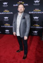 """HOLLYWOOD, CA - OCTOBER 10: Writer Christopher Yost at The World Premiere of Marvel Studios' """"Thor: Ragnarok"""" at the El Capitan Theatre on October 10, 2017 in Hollywood, California. (Photo by Rich Polk/Getty Images for Disney) *** Local Caption *** Christopher Yost"""