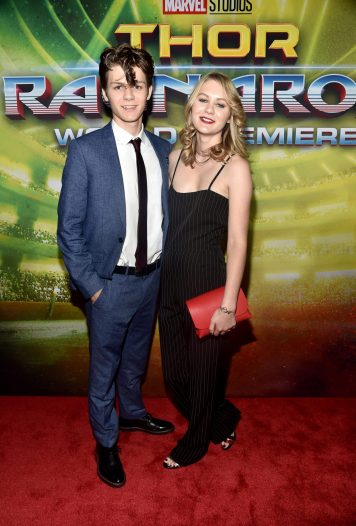 """HOLLYWOOD, CA - OCTOBER 10: Ty Simpkins (L) and Ryan Simpkins at The World Premiere of Marvel Studios' """"Thor: Ragnarok"""" at the El Capitan Theatre on October 10, 2017 in Hollywood, California. (Photo by Alberto E. Rodriguez/Getty Images for Disney) *** Local Caption *** Ty Simpkins; Ryan Simpkins"""