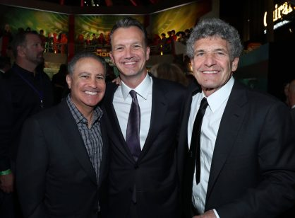 """HOLLYWOOD, CA - OCTOBER 10: (L-R) Walt Disney Studios President, Alan Bergman, President of Walt Disney Studios Motion Picture Production Sean Bailey and Chairman, The Walt Disney Studios, Alan Horn at The World Premiere of Marvel Studios' """"Thor: Ragnarok"""" at the El Capitan Theatre on October 10, 2017 in Hollywood, California. (Photo by Rich Polk/Getty Images for Disney) *** Local Caption *** Alan Bergman; Sean Bailey; Alan Horn"""
