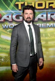 """HOLLYWOOD, CA - OCTOBER 10: Actor Karl Urban at The World Premiere of Marvel Studios' """"Thor: Ragnarok"""" at the El Capitan Theatre on October 10, 2017 in Hollywood, California. (Photo by Alberto E. Rodriguez/Getty Images for Disney) *** Local Caption *** Karl Urban"""