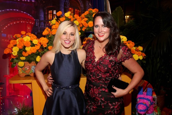 """HOLLYWOOD, CA - NOVEMBER 08: Songwriters Elyssa Samsel (L) and Kate Anderson of """"Olafís Frozen Adventure"""" at the U.S. Premiere of Disney-Pixarís """"Coco"""" at the El Capitan Theatre on November 8, 2017, in Hollywood, California. """"Olafís Frozen Adventure"""" featurette opens in front of Disney-Pixarís original feature ìCocoî for a limited time. (Photo by Jesse Grant/Getty Images for Disney) *** Local Caption *** Kate Anderson; Elyssa Samsel"""