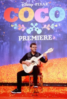 """HOLLYWOOD, CA - NOVEMBER 08: Guitarist Federico Ramos at the U.S. Premiere of Disney-Pixarís """"Coco"""" at the El Capitan Theatre on November 8, 2017, in Hollywood, California. (Photo by Jesse Grant/Getty Images for Disney) *** Local Caption *** Federico Ramos"""