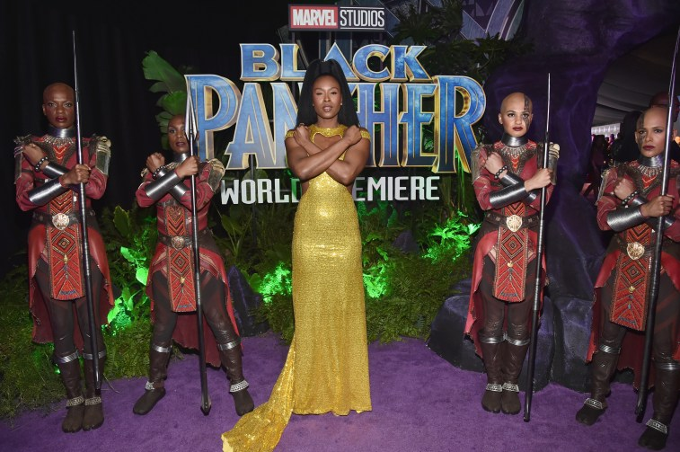 HOLLYWOOD, CA - JANUARY 29: Actor Sydelle Noel (C) at the Los Angeles World Premiere of Marvel Studios' BLACK PANTHER at Dolby Theatre on January 29, 2018 in Hollywood, California. (Photo by Alberto E. Rodriguez/Getty Images for Disney) *** Local Caption *** Sydelle Noel