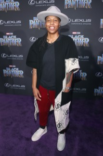 HOLLYWOOD, CA - JANUARY 29: Writer Lena Waithe at the Los Angeles World Premiere of Marvel Studios' BLACK PANTHER at Dolby Theatre on January 29, 2018 in Hollywood, California. (Photo by Jesse Grant/Getty Images for Disney) *** Local Caption *** Lena Waithe