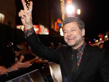 HOLLYWOOD, CA - JANUARY 29: Actor Andy Serkis at the Los Angeles World Premiere of Marvel Studios' BLACK PANTHER at Dolby Theatre on January 29, 2018 in Hollywood, California. (Photo by Rich Polk/Getty Images for Disney) *** Local Caption *** Andy Serkis