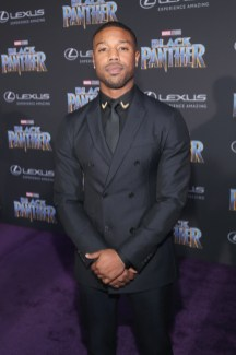 HOLLYWOOD, CA - JANUARY 29: Actor Michael B. Jordan at the Los Angeles World Premiere of Marvel Studios' BLACK PANTHER at Dolby Theatre on January 29, 2018 in Hollywood, California. (Photo by Jesse Grant/Getty Images for Disney) *** Local Caption *** Michael B. Jordan