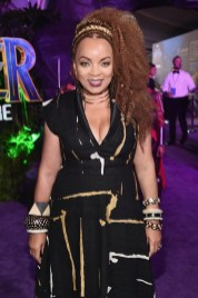 HOLLYWOOD, CA - JANUARY 29: Costume designer Ruth E. Carter at the Los Angeles World Premiere of Marvel Studios' BLACK PANTHER at Dolby Theatre on January 29, 2018 in Hollywood, California. (Photo by Alberto E. Rodriguez/Getty Images for Disney) *** Local Caption *** Ruth E. Carter
