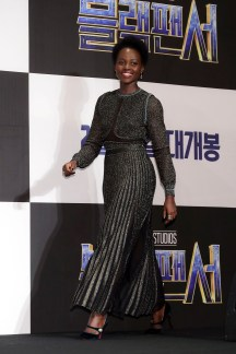 SEOUL, SOUTH KOREA - FEBRUARY 05: Actor Lupita NyongÕo attends the press conference for the Seoul premiere of 'Black Panther' on February 5, 2018 in Seoul, South Korea. (Photo by Han Myung-Gu/Getty Images for Disney) *** Local Caption *** Lupita NyongÕo