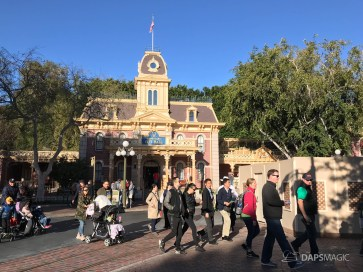 Disneyland Town Square Bricks With Walls Down in Spring-23