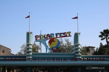 Pixar Fest Decorations at Disneyland Resort