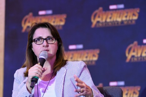 Victoria Alonso (Executive Producer), Infinity War at the press conference in Mexico City.
