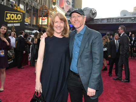 HOLLYWOOD, CA - MAY 10: Actor Cheryl Howard (L) and director Ron Howard attend the world premiere of ìSolo: A Star Wars Storyî in Hollywood on May 10, 2018. (Photo by Charley Gallay/Getty Images for Disney) *** Local Caption *** Cheryl Howard; Ron Howard