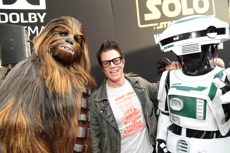 "Johnny Knoxville attends the world premiere of ""Solo: A Star Wars Story"" in Hollywood on May 10, 2018. (Photo: Alex J. Berliner/ABImages)"