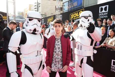 "Joshua Rush attends the world premiere of ""Solo: A Star Wars Story"" in Hollywood on May 10, 2018. (Photo: Alex J. Berliner/ABImages)"