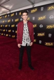 HOLLYWOOD, CA - MAY 10: Actor Joshua Rush attends the world premiere of ìSolo: A Star Wars Storyî in Hollywood on May 10, 2018. (Photo by Alberto E. Rodriguez/Getty Images for Disney) *** Local Caption *** Joshua Rush
