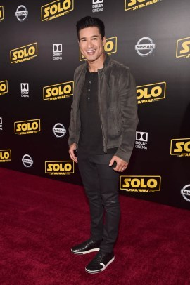 HOLLYWOOD, CA - MAY 10: Mario Lopez attend the world premiere of ìSolo: A Star Wars Storyî in Hollywood on May 10, 2018. (Photo by Alberto E. Rodriguez/Getty Images for Disney) *** Local Caption *** Mario Lopez