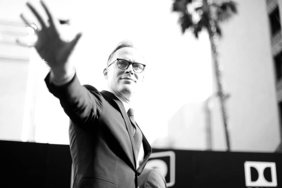 HOLLYWOOD, CA - MAY 10: (EDITORS NOTE: This image has been shot in black and white. Color version not available) Actor Paul Bettany attends the world premiere of ìSolo: A Star Wars Storyî in Hollywood on May 10, 2018. (Photo by Charley Gallay/Getty Images for Disney) *** Local Caption *** Paul Bettany