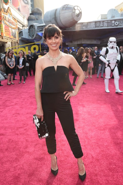 "Constance Zimmer attends the world premiere of ""Solo: A Star Wars Story"" in Hollywood on May 10, 2018. (Photo: Alex J. Berliner/ABImages)"