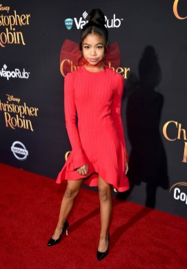 BURBANK, CA - JULY 30: Navia Robinson attends the world premiere of Disney's 'Christopher Robin' at the Main Theater on the Walt Disney Studios lot in Burbank, CA on July 30, 2018. (Photo by Alberto E. Rodriguez/Getty Images for Disney) *** Local Caption *** Navia Robinson