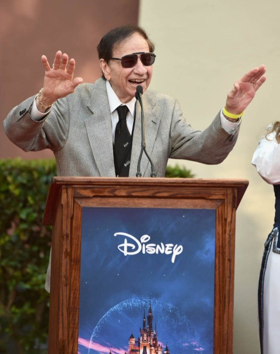 BURBANK, CA - JULY 30: Songwriter Richard M. Sherman attends the dedication and re-naming of the historic Orchestra Stage, now the Sherman Brothers Stage A, on the Disney Burbank lot prior to the world premiere of Disney's 'Christopher Robin' at the studio's Main Theater, on July 30, 2018. (Photo by Alberto E. Rodriguez/Getty Images for Disney) *** Local Caption *** Richard M. Sherman