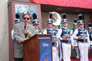 """Richard M. Sherman speaks at the dedication and re-naming of the historic Orchestra Stage, now the Sherman Brothers Stage A, on the Disney Burbank lot prior to the world premiere of Disney's """"Christopher Robin"""" at the studio's Main Theater, on July 30, 2018 in Burbank, CA (Photo: Alex J. Berliner/ABImages)"""
